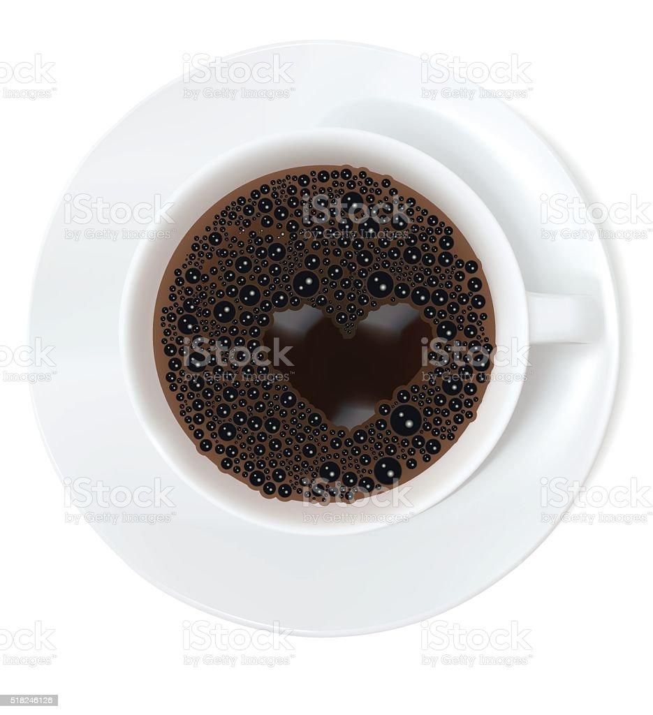 I Heart Coffee vector art illustration