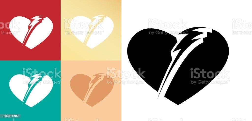 Heart Defibrillator Icon royalty-free stock vector art