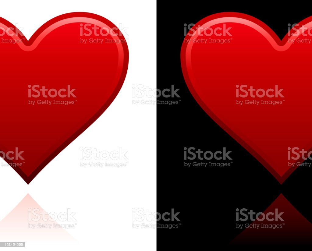 heart design on black and white Backgrounds royalty-free stock vector art