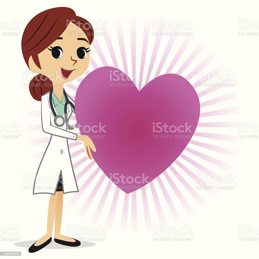 Heart Doctor vector art illustration