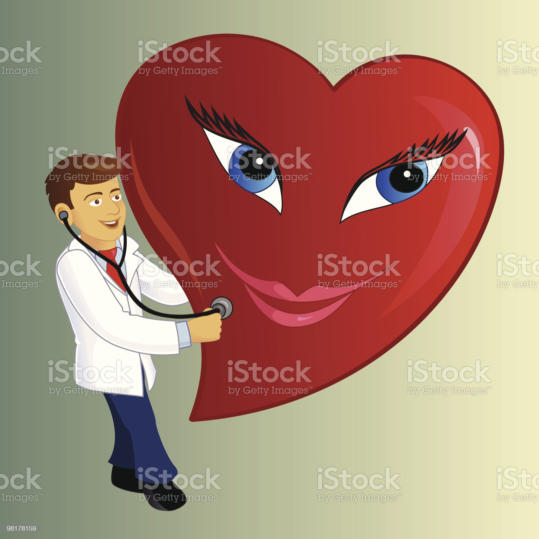 Heart Doctor royalty-free stock vector art