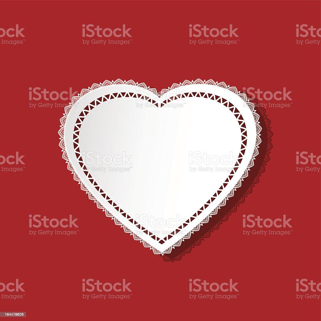 Heart doily royalty-free stock vector art