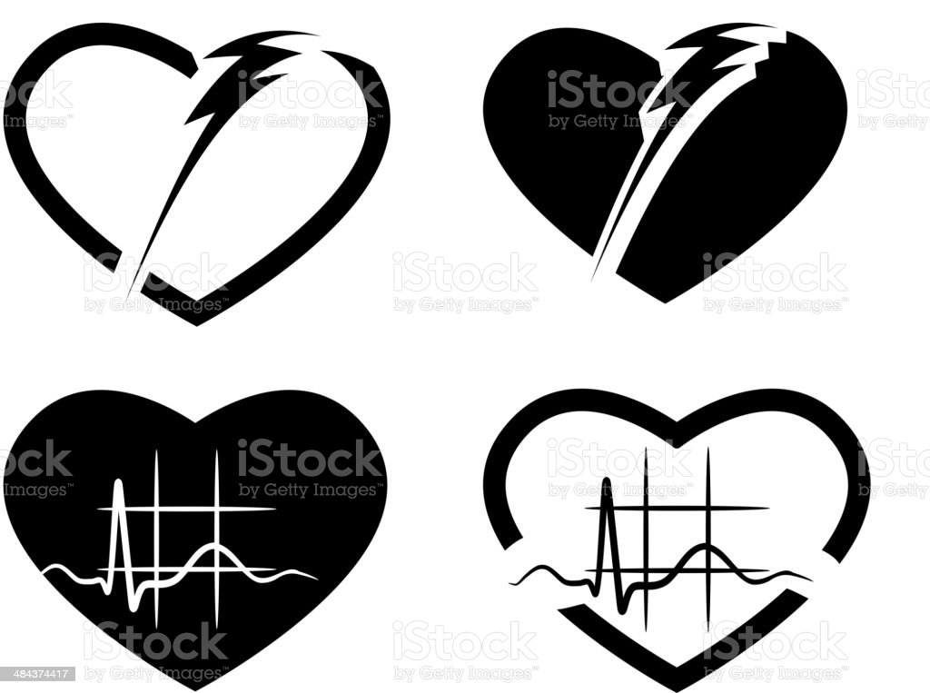 Heart ECG Symbol royalty-free stock vector art