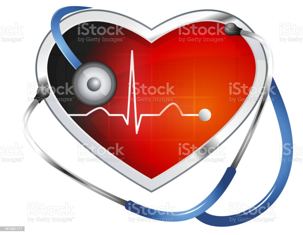 Heart ECG royalty-free stock vector art