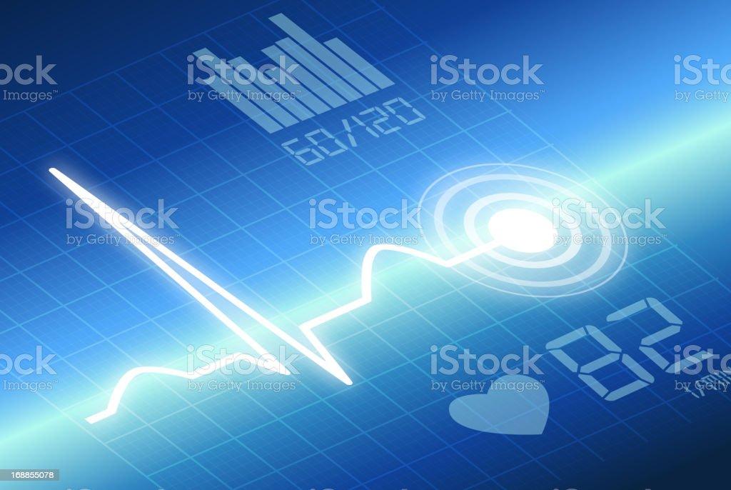 Heart ECG royalty-free stock vector art