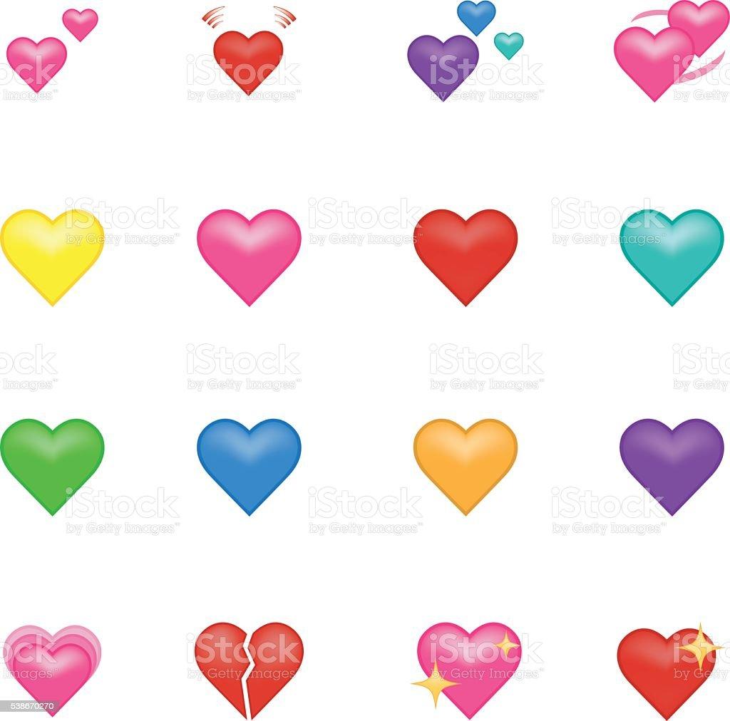 Heart emoji. vector art illustration