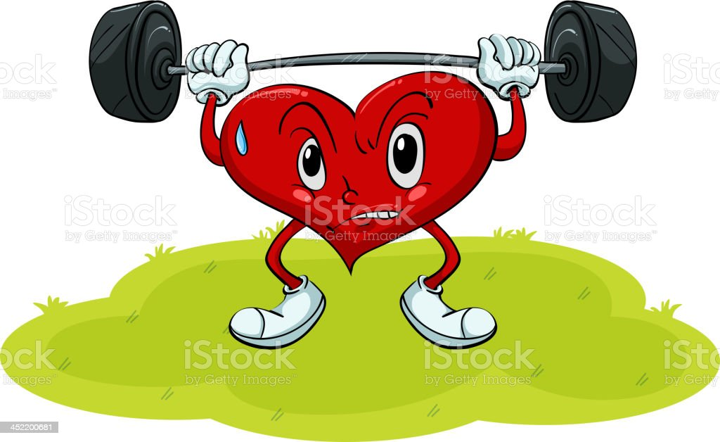 Heart exercise royalty-free stock vector art