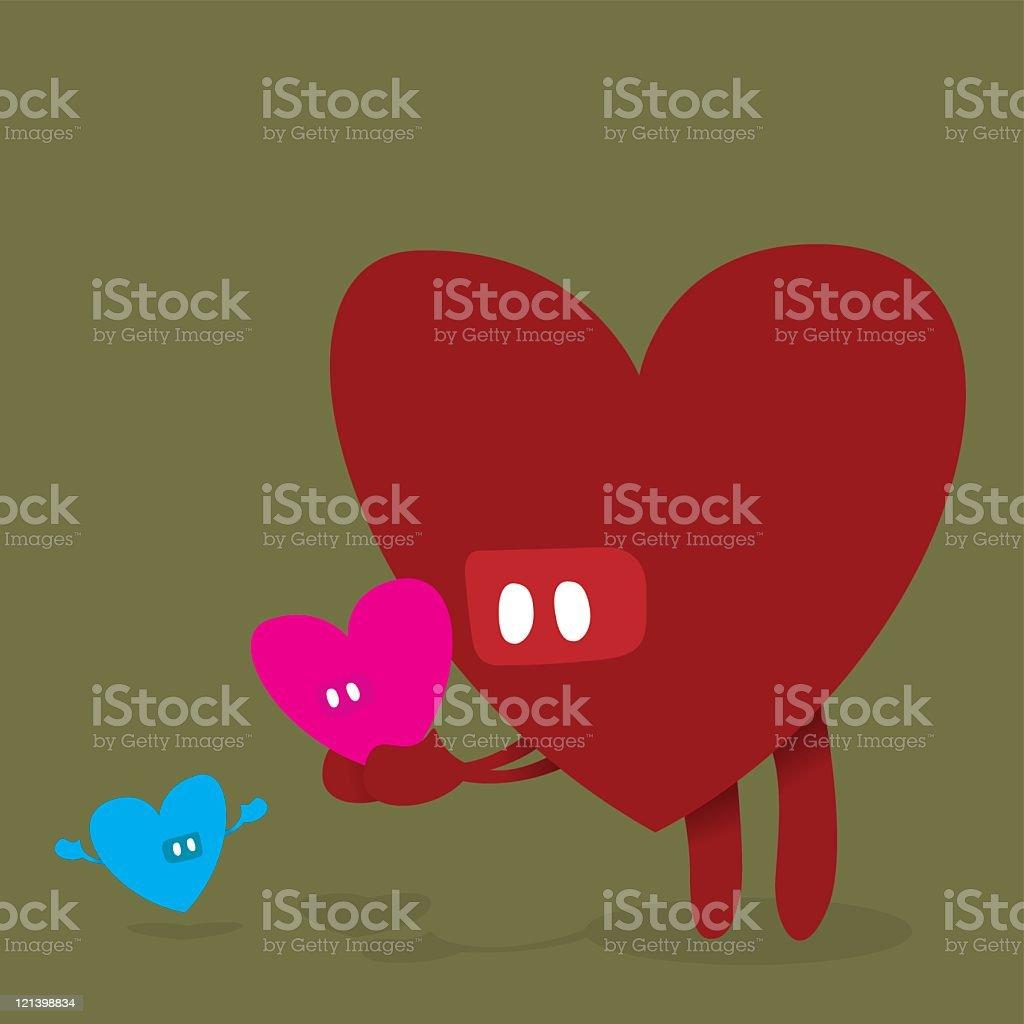 Heart Family royalty-free stock vector art