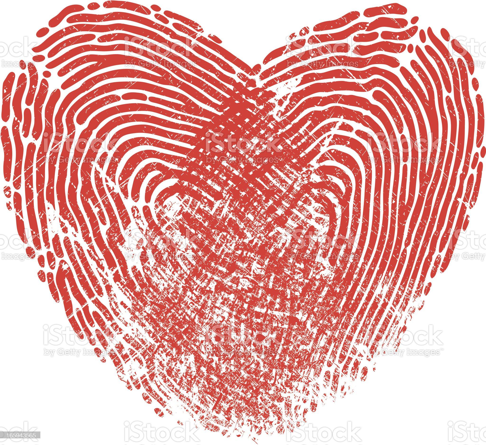 Heart Fingerprint royalty-free stock vector art