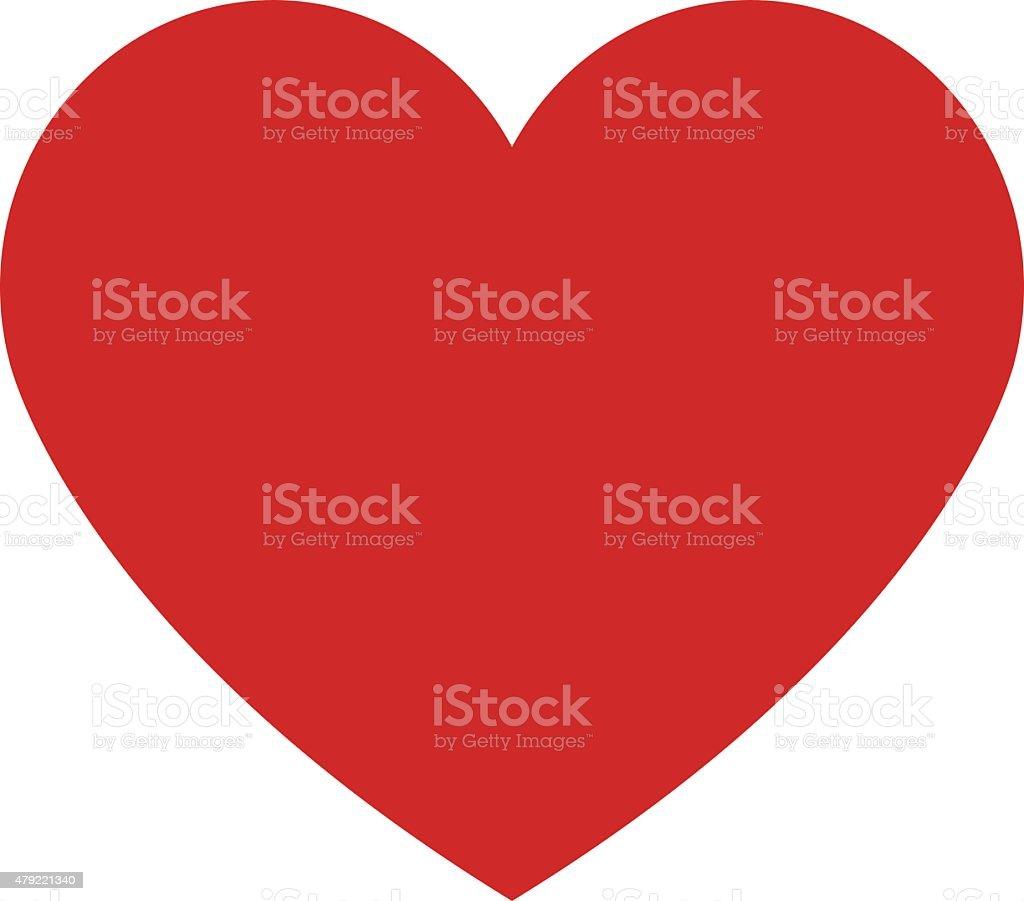 Heart icon, modern minimal flat design style. Love symbol vector art illustration