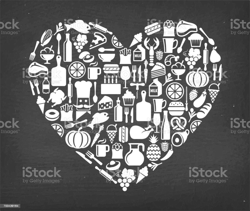 Heart Food & Drink royalty free vector icon pattern. This image...