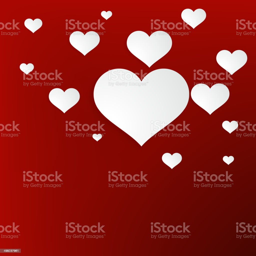 Heart for Valentines Day Background. + EPS10 royalty-free stock vector art