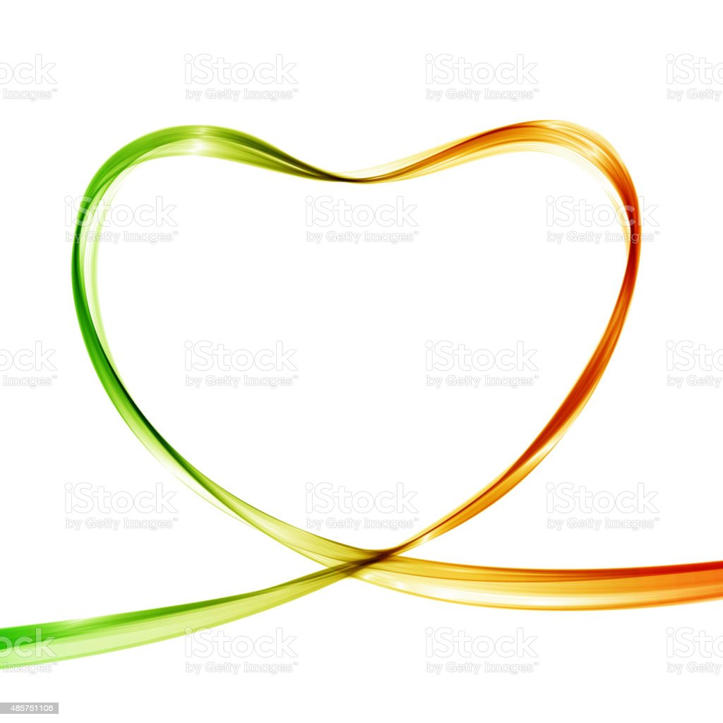 Heart from colorful waves. Abstract background. Vector illustration. vector art illustration