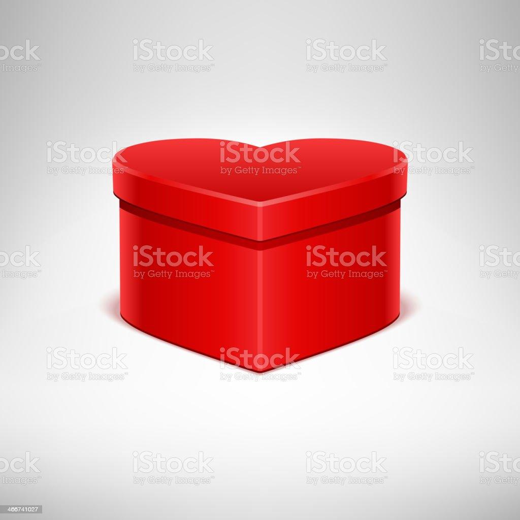 Heart gift Valentine's day vector art illustration