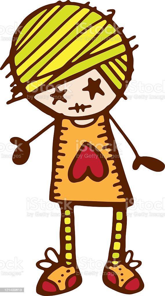 Heart Girl royalty-free stock vector art