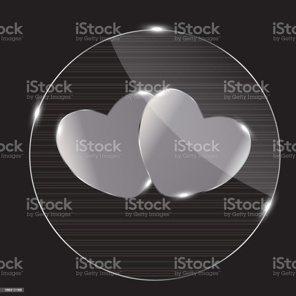 Heart glass Button vector illustration vector art illustration