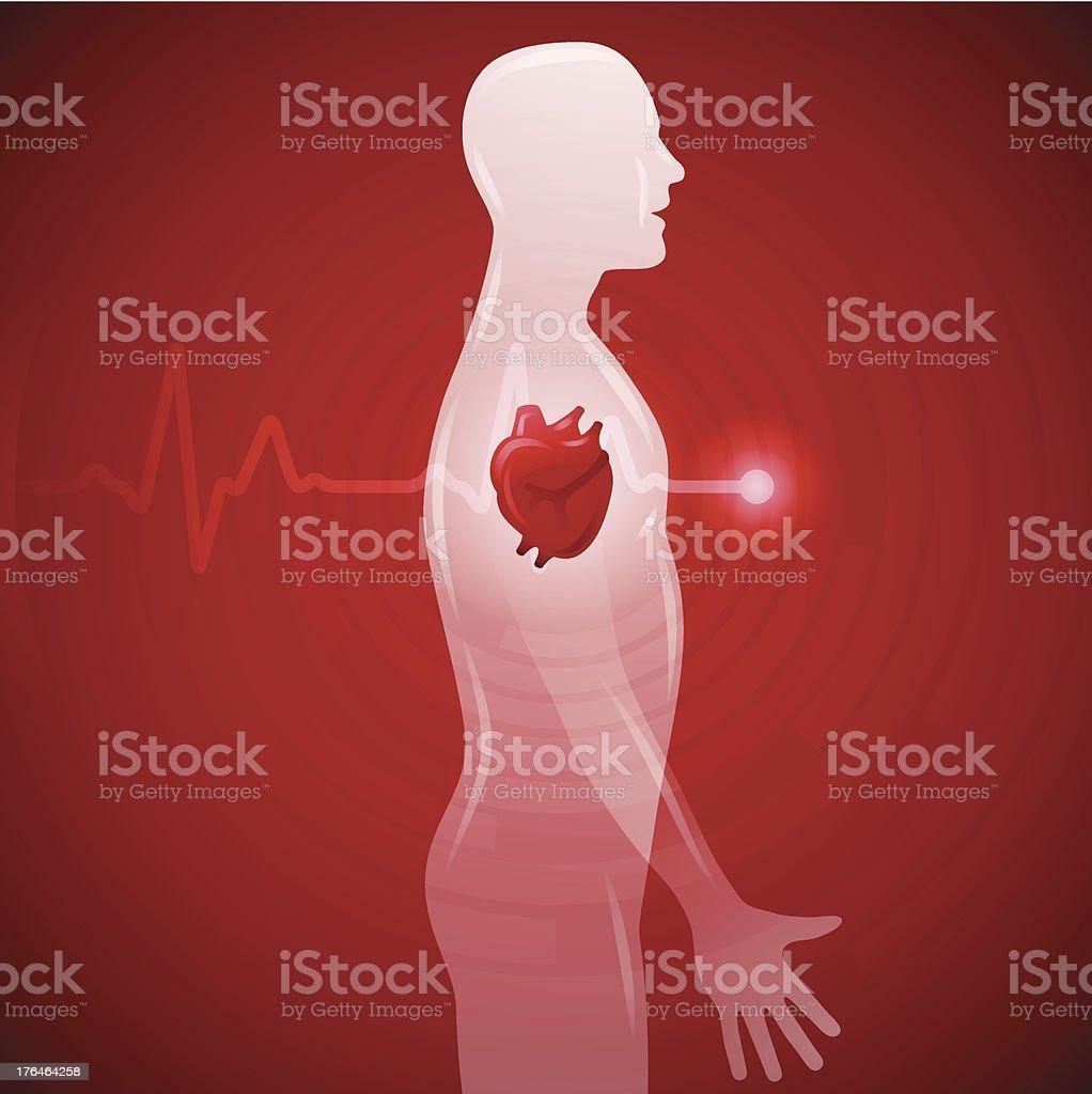 Heart Health vector art illustration
