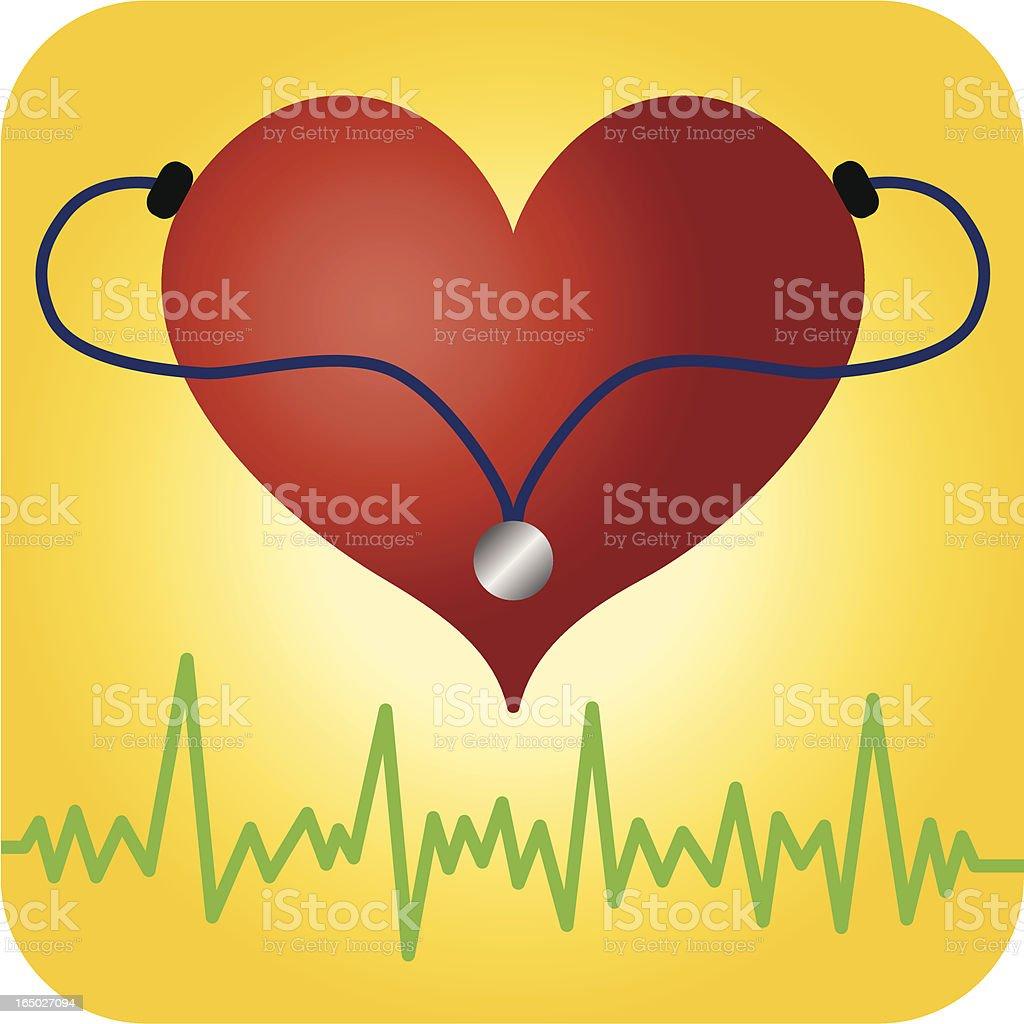 Heart Healthy royalty-free stock vector art