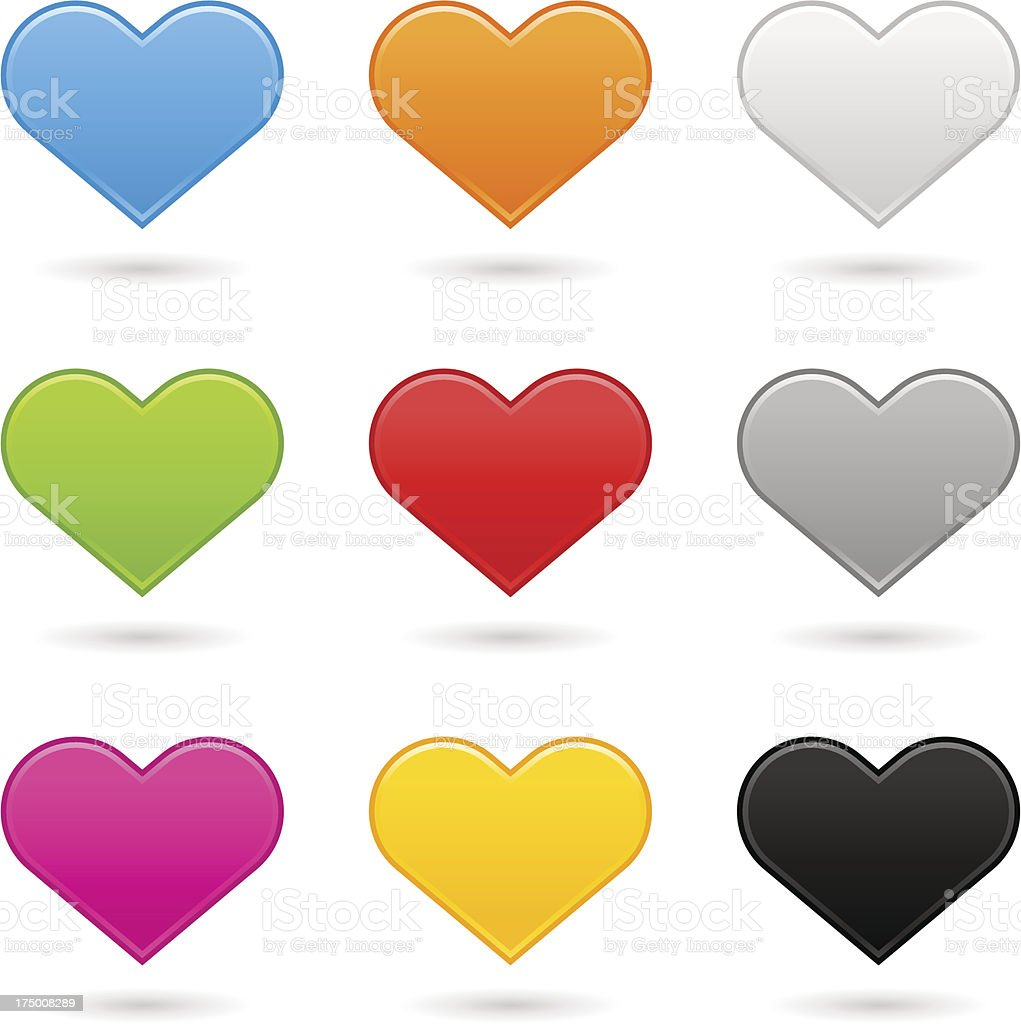 Heart icon color sign web internet button royalty-free stock vector art