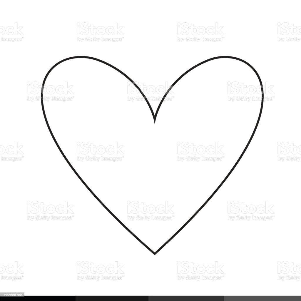 Heart icon illustration design vector art illustration