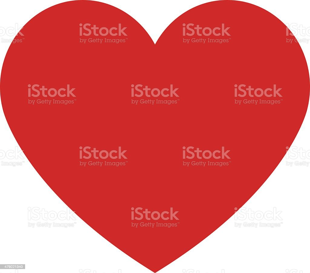 Heart icon, modern minimal flat design style. Love symbol royalty-free stock vector art