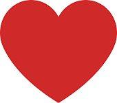Heart icon, modern minimal flat design style. Love symbol