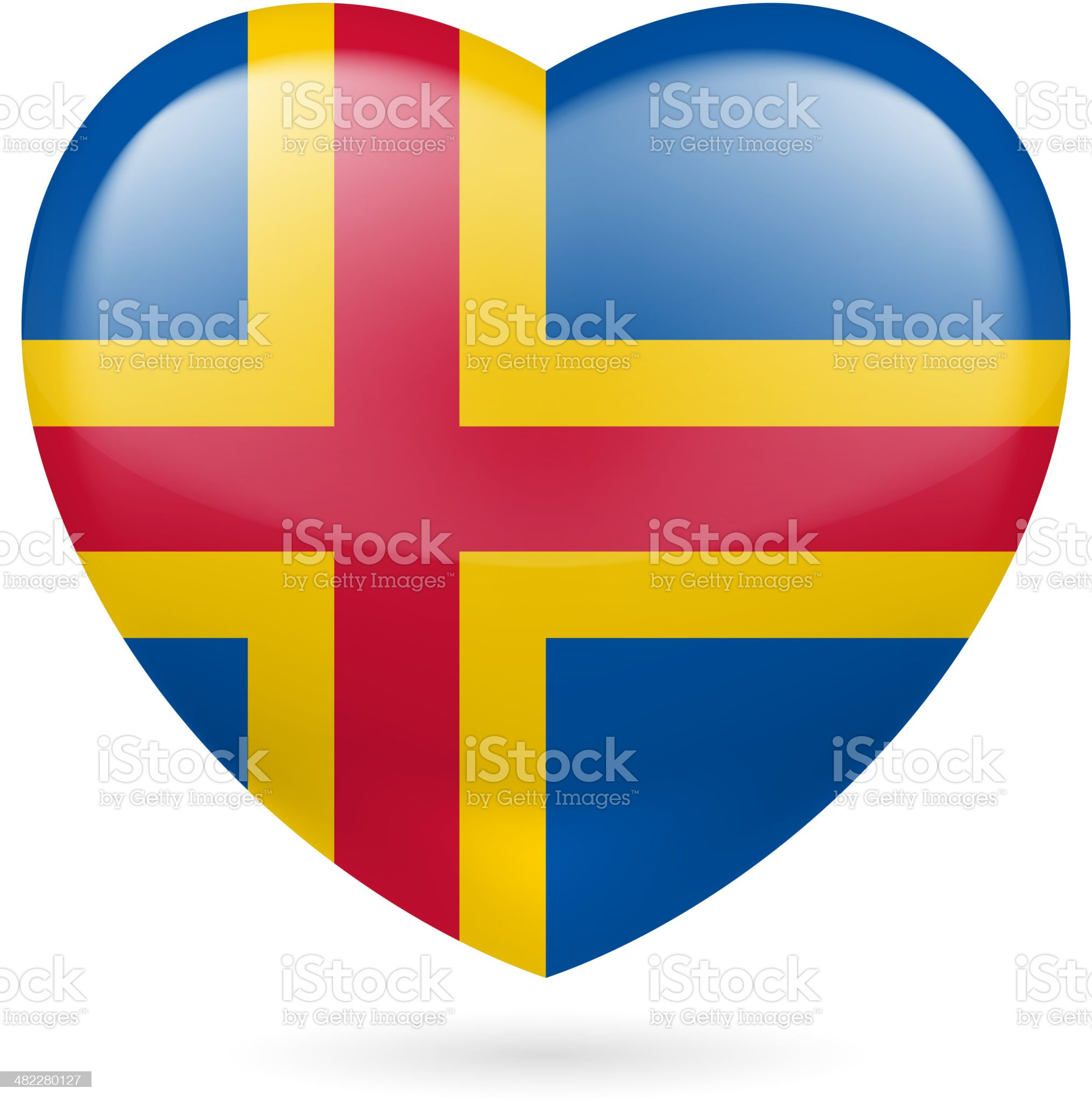 Heart icon of Aland Islands royalty-free stock vector art