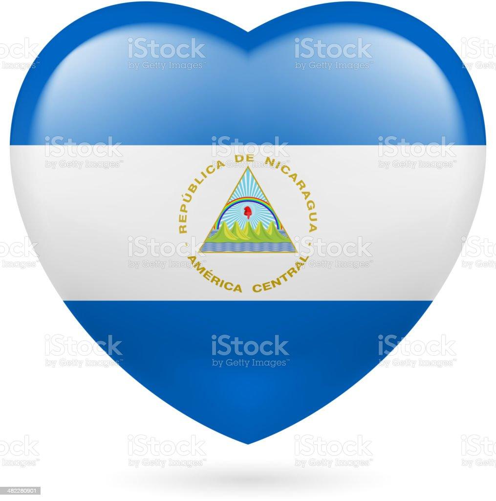 Heart icon of  Algeria royalty-free stock vector art