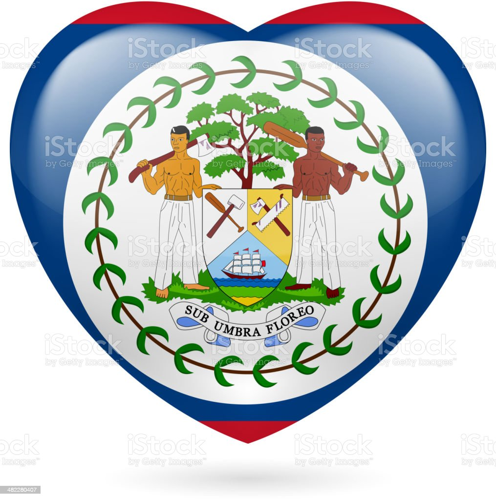 Heart icon of Belize royalty-free stock vector art