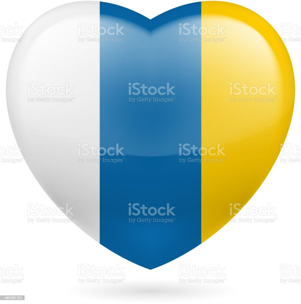 Heart icon of Canary Islands royalty-free stock vector art