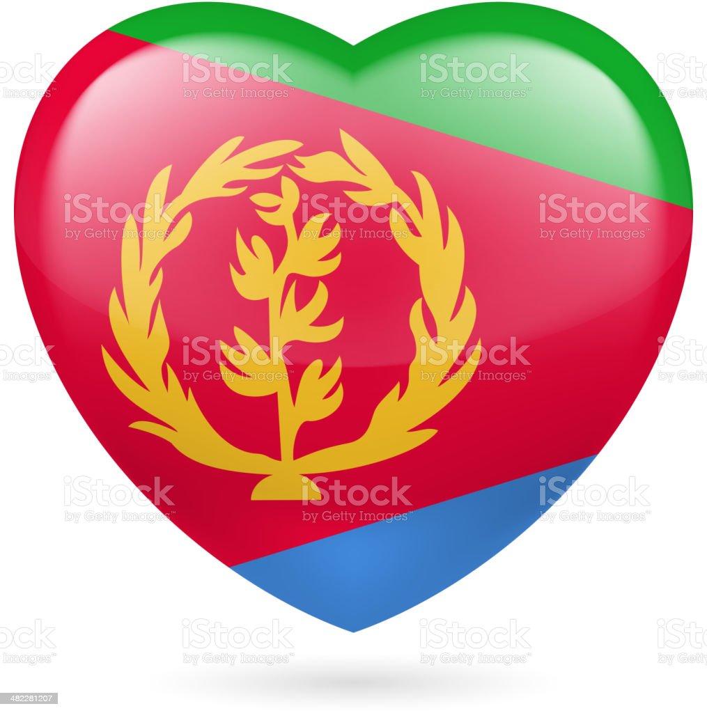Heart icon of Eritrea royalty-free stock vector art