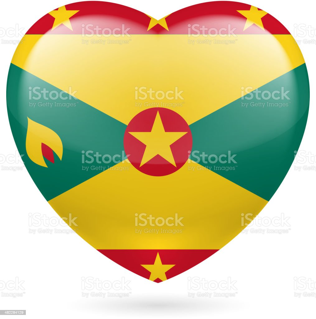 Heart icon of Grenada royalty-free stock vector art