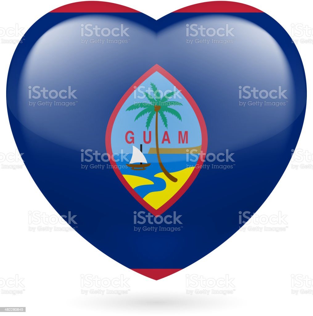 Heart icon of Guam royalty-free stock vector art