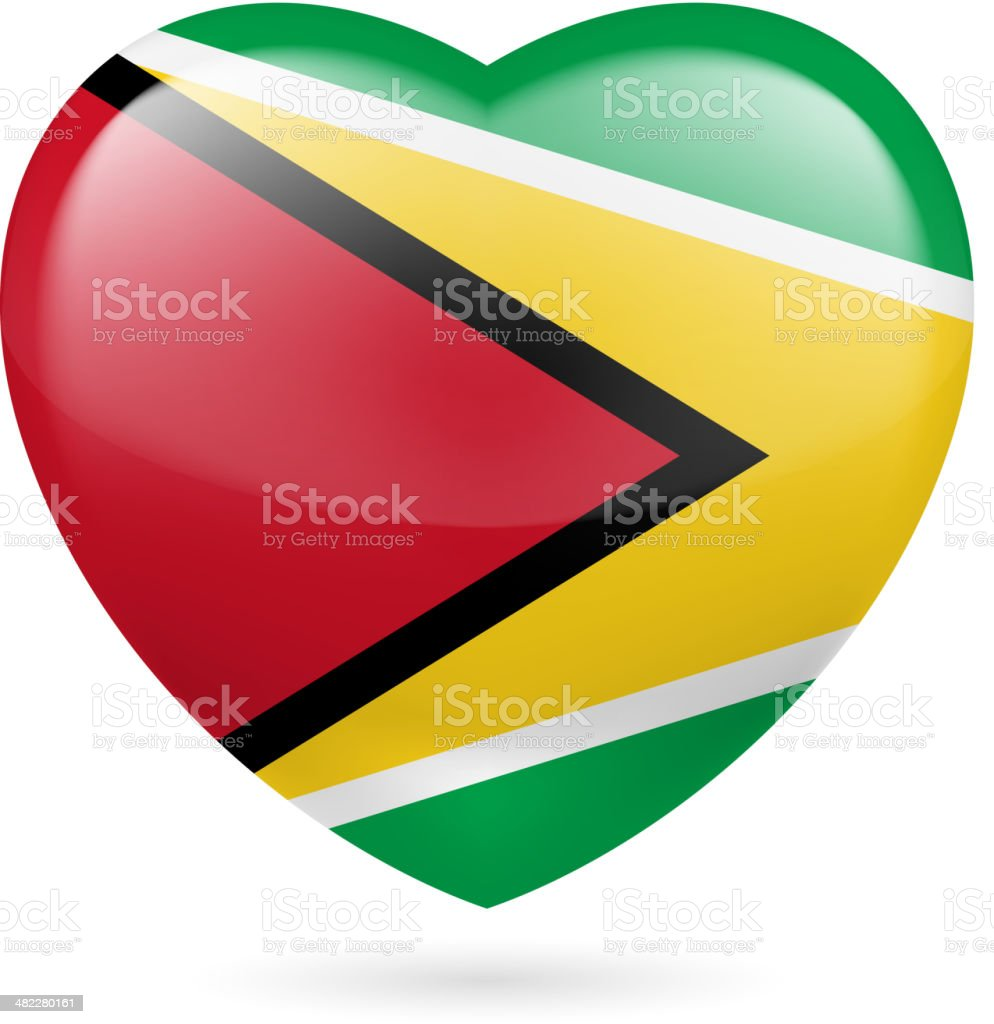 Heart icon of Guyana royalty-free stock vector art