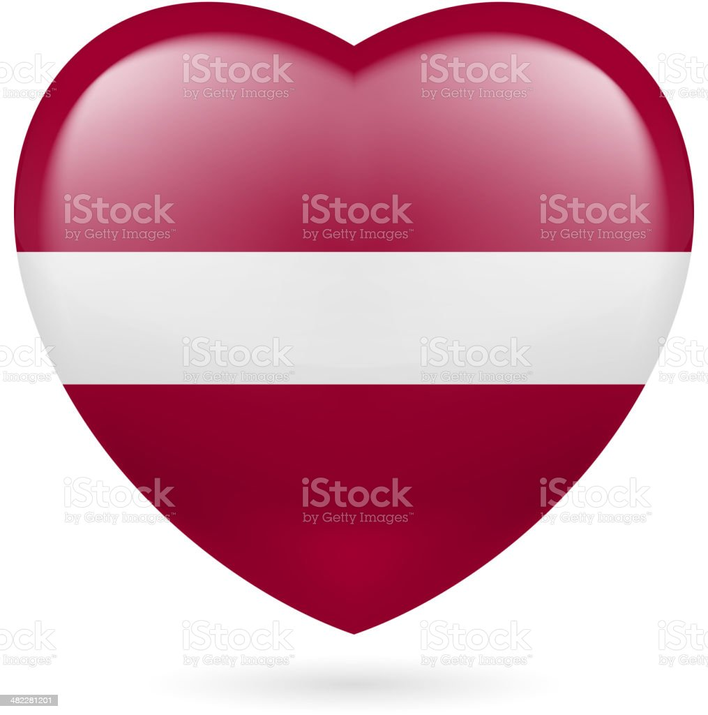 Heart icon of Iraq royalty-free stock vector art