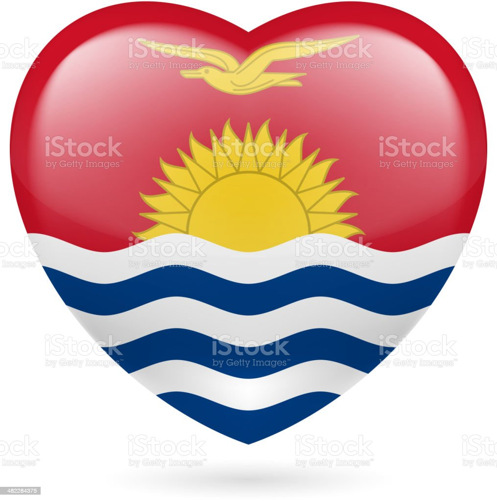 Heart icon of Kiribati royalty-free stock vector art