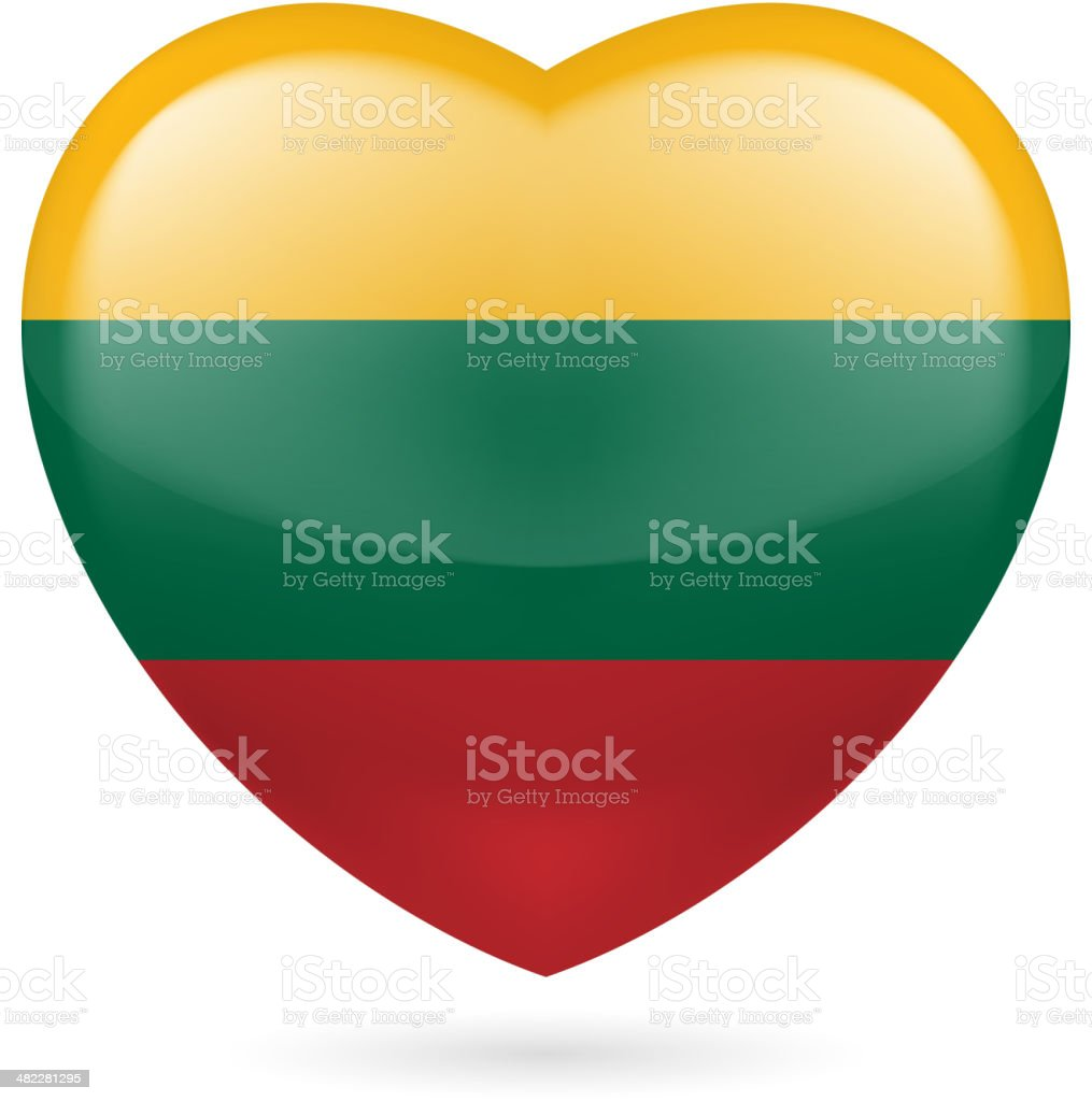 Heart icon of Lithuania royalty-free stock vector art