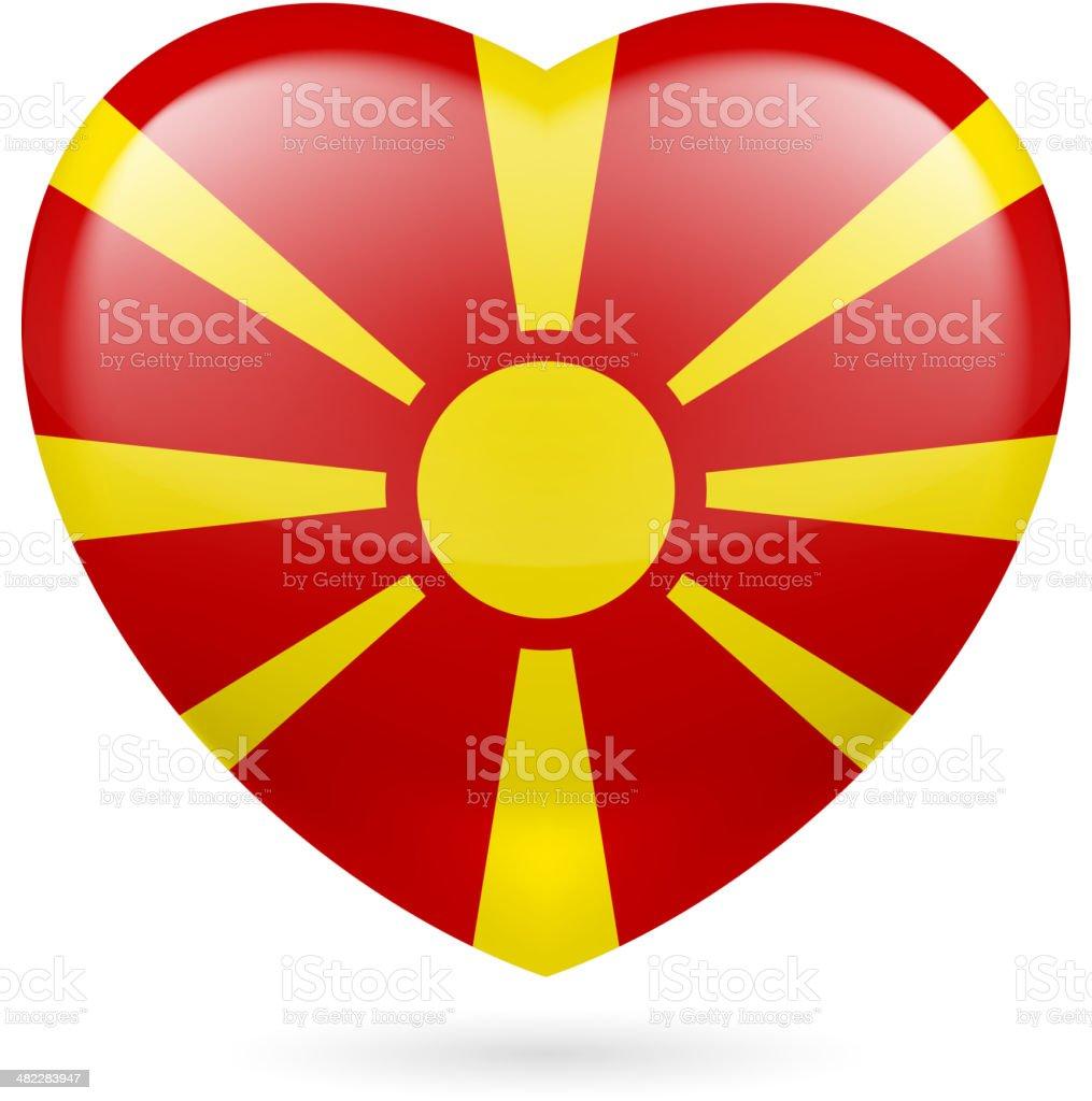 Heart icon of Macedonia royalty-free stock vector art