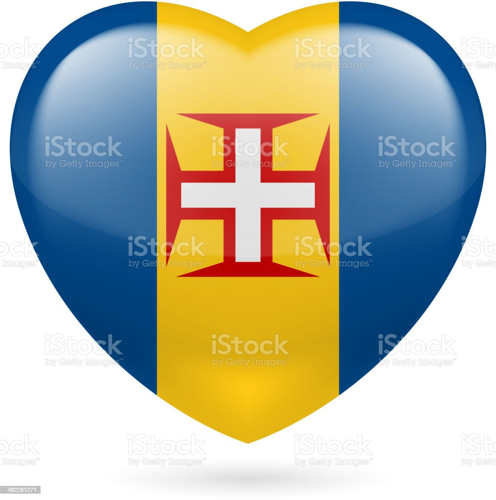 Heart icon of Madeira royalty-free stock vector art