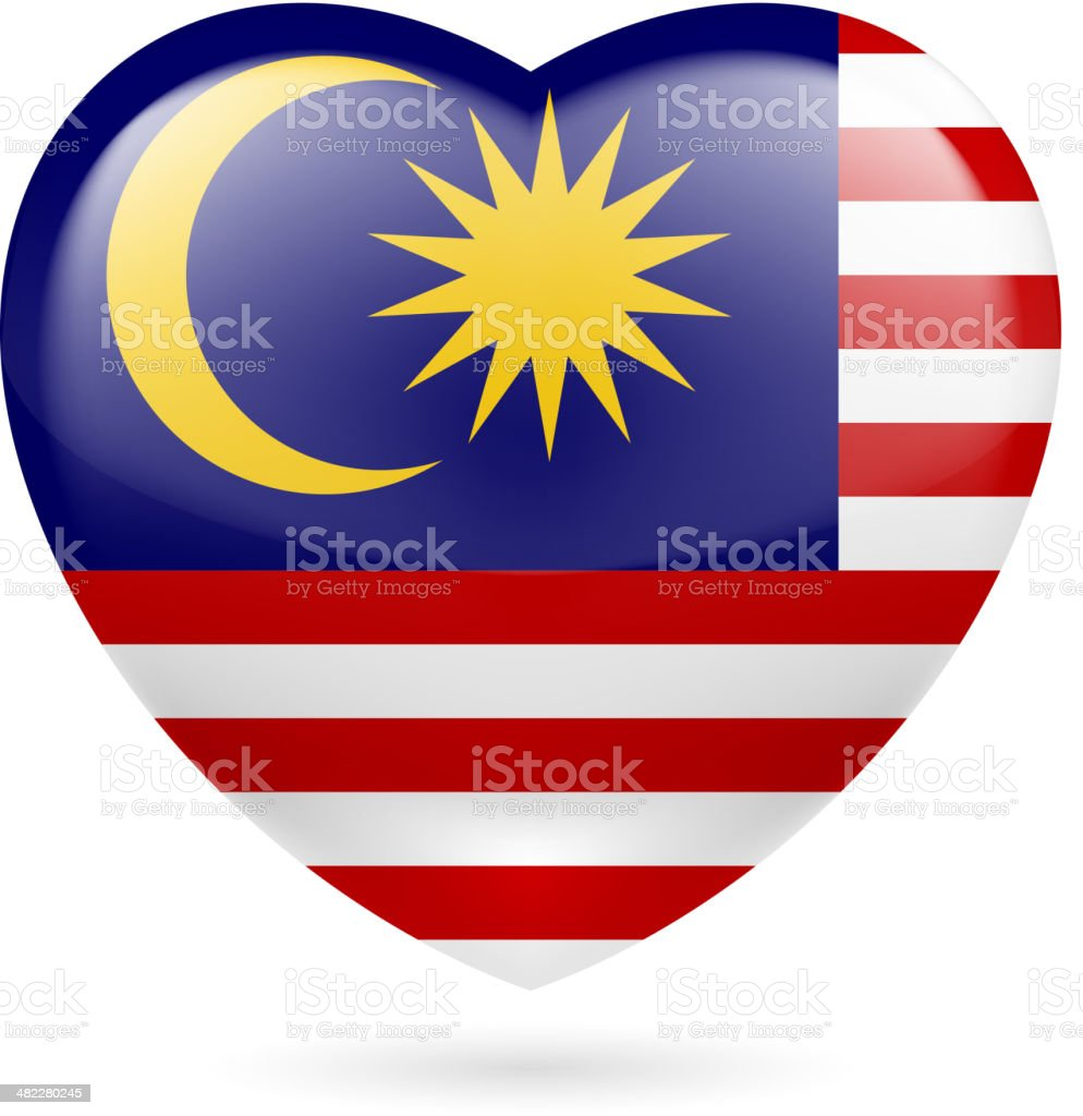 Heart icon of Malaysia royalty-free stock vector art