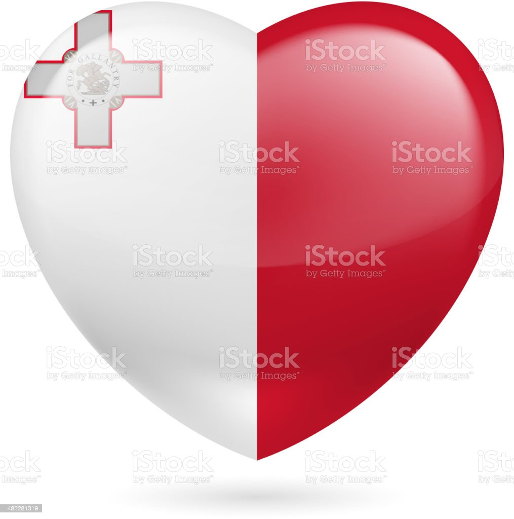 Heart icon of Malta royalty-free stock vector art