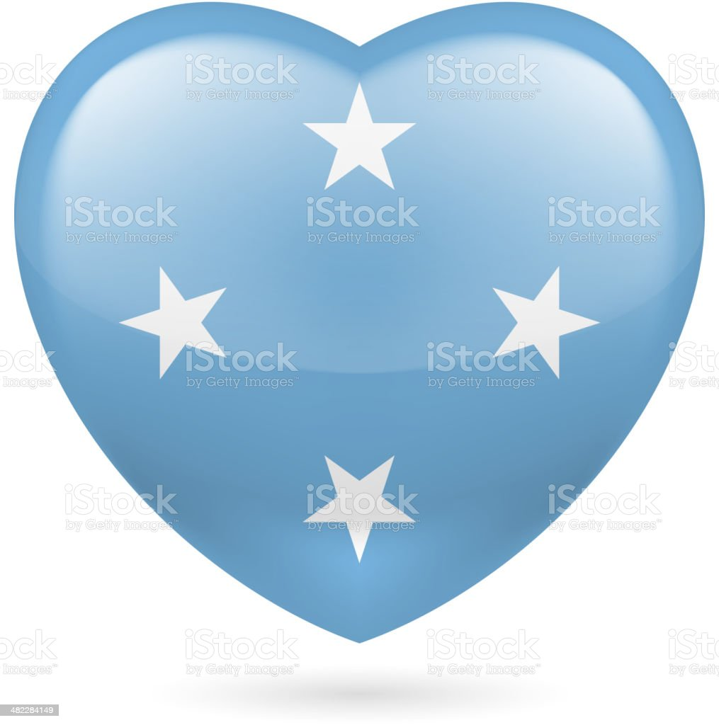 Heart icon of Micronesia royalty-free stock vector art