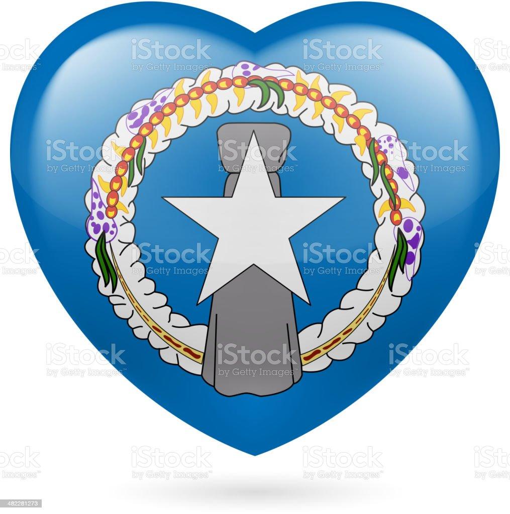 Heart icon of Northern Mariana Islands royalty-free stock vector art