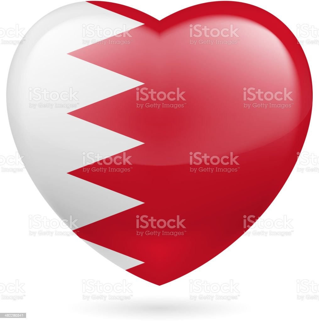 Heart icon of Qatar royalty-free stock vector art