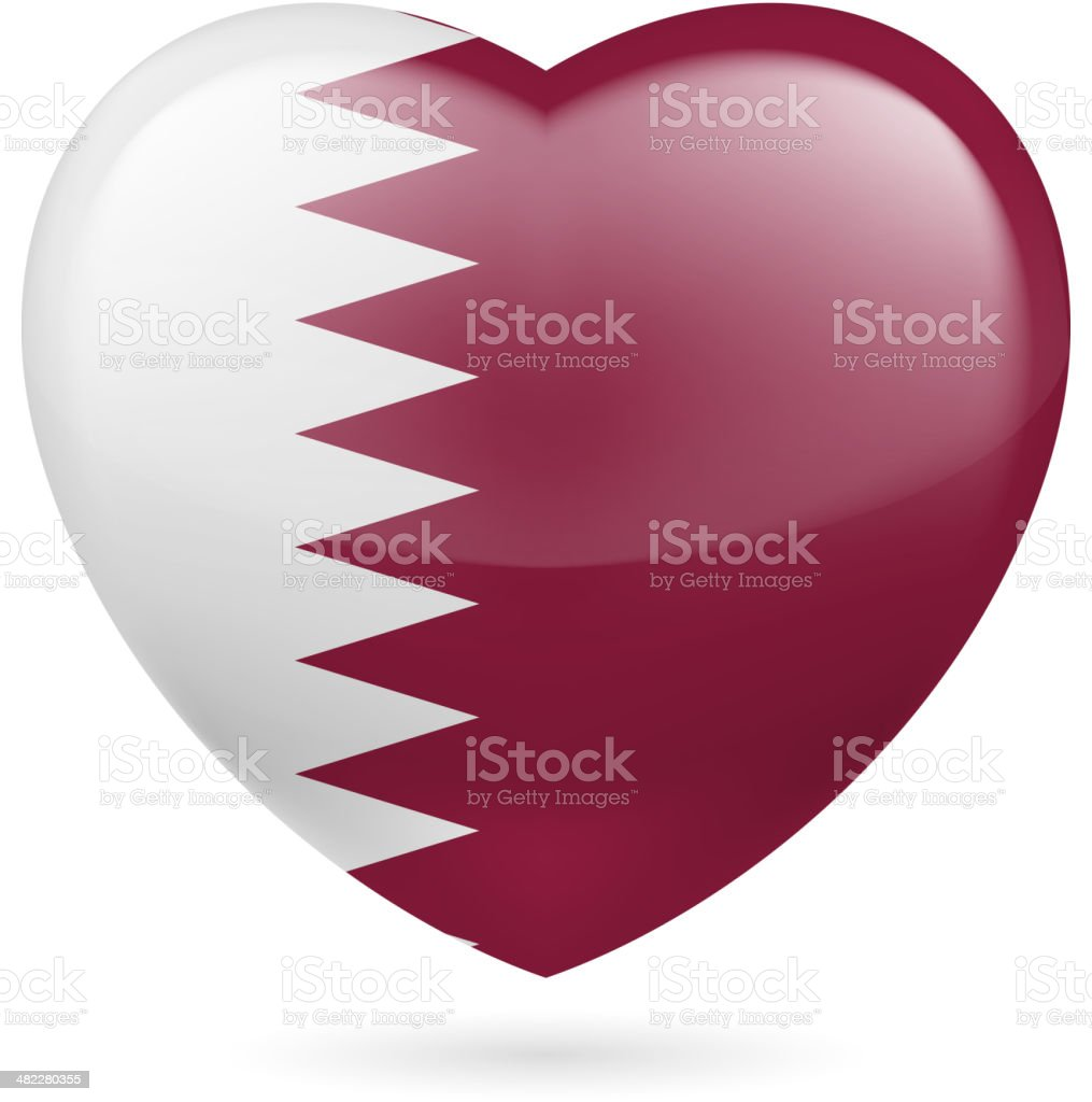 Heart icon of Qatar royalty-free stock vector art
