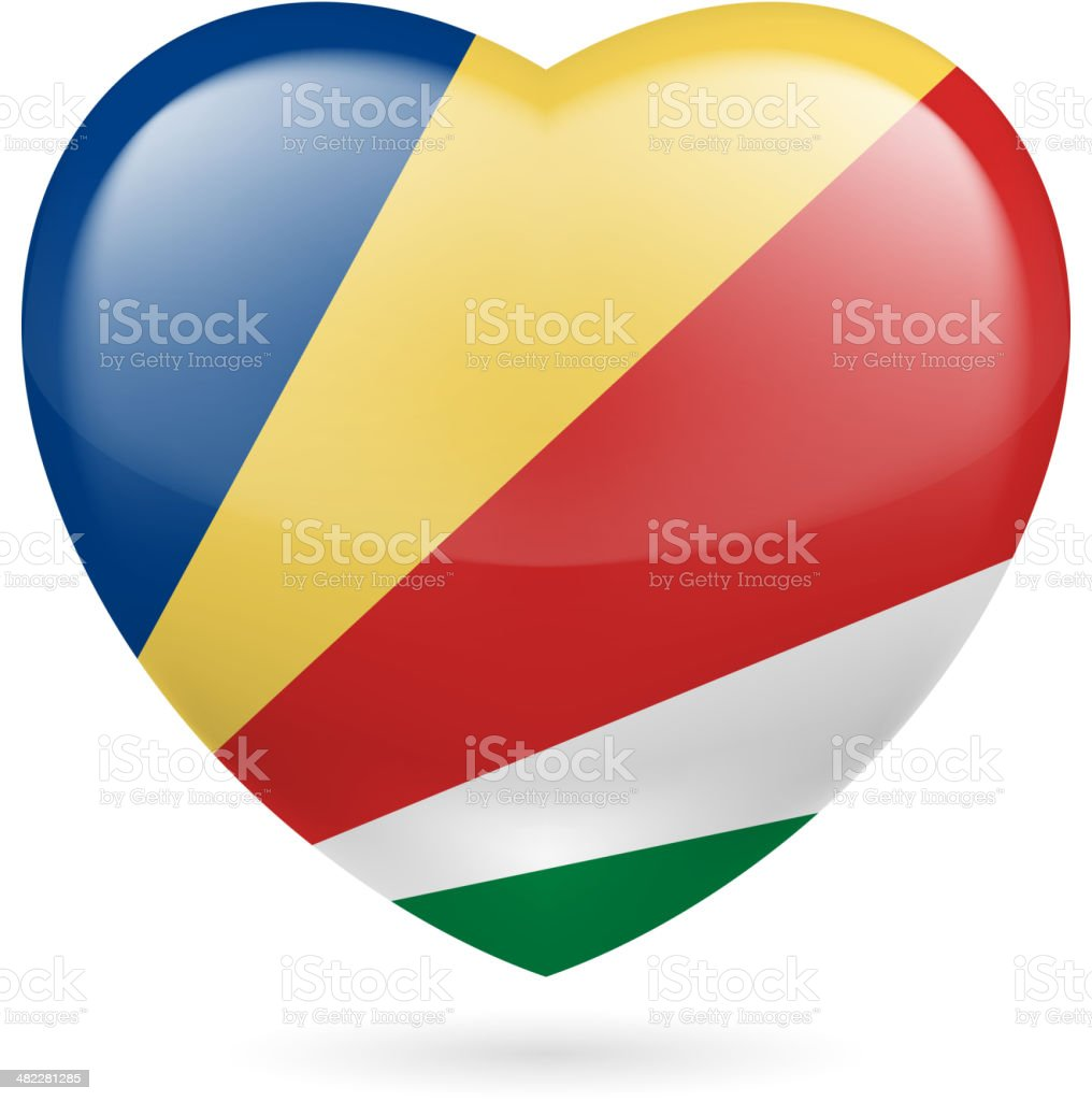 Heart icon of Seychelles royalty-free stock vector art