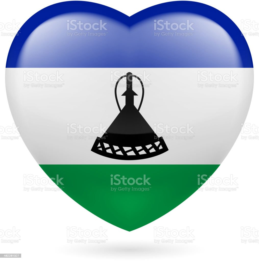 Heart icon of Suriname royalty-free stock vector art