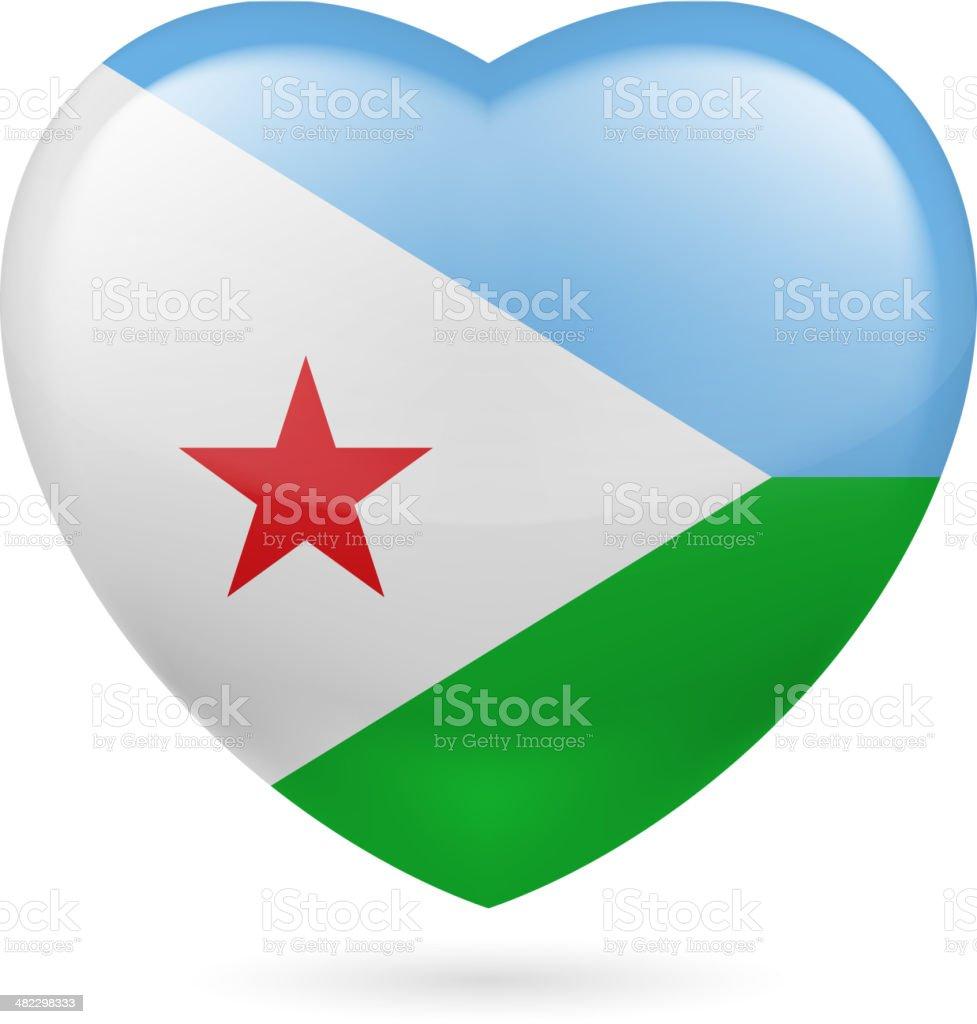 Heart icon of United Arab Emirates royalty-free stock vector art