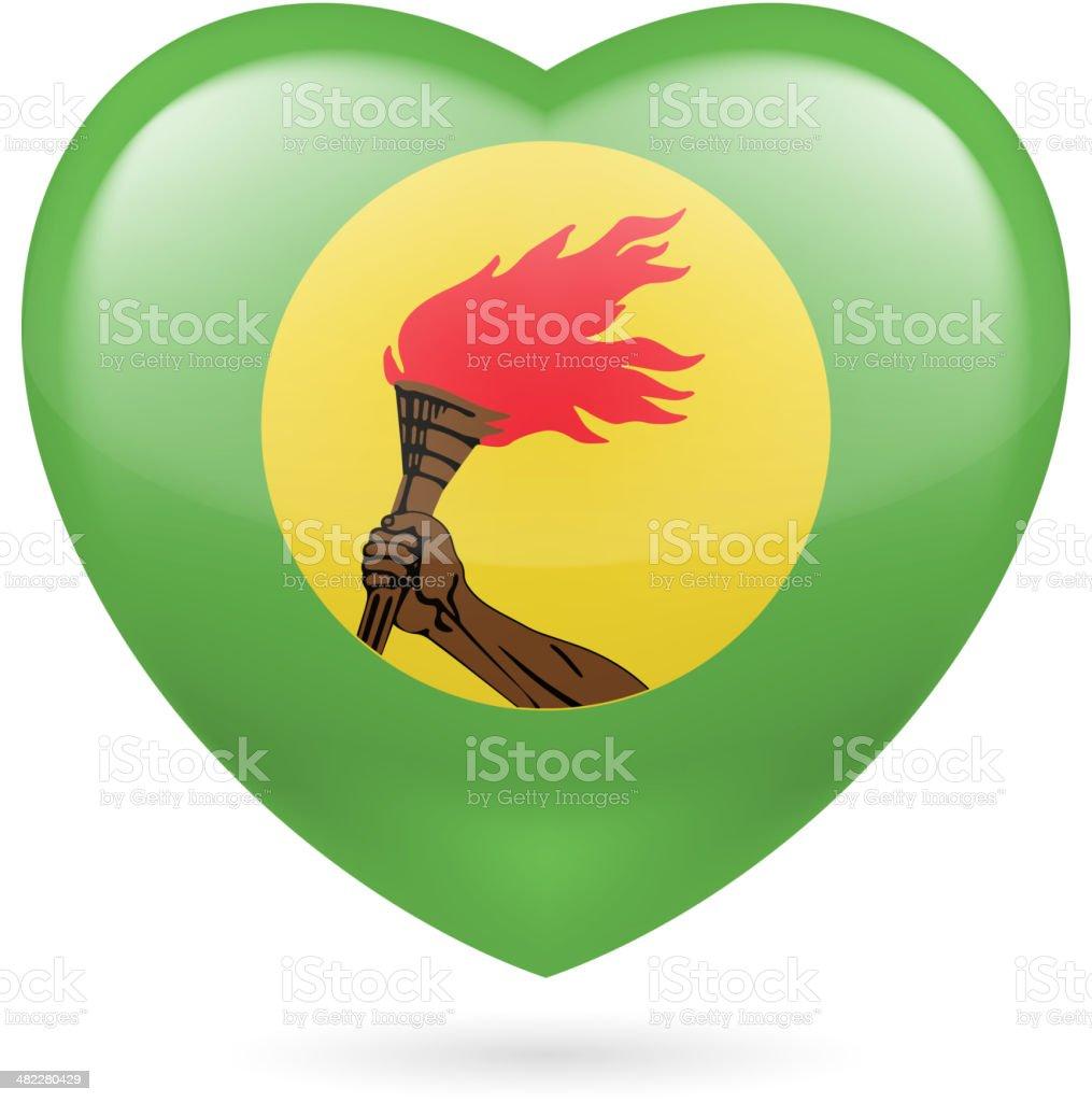 Heart icon of Zaire royalty-free stock vector art