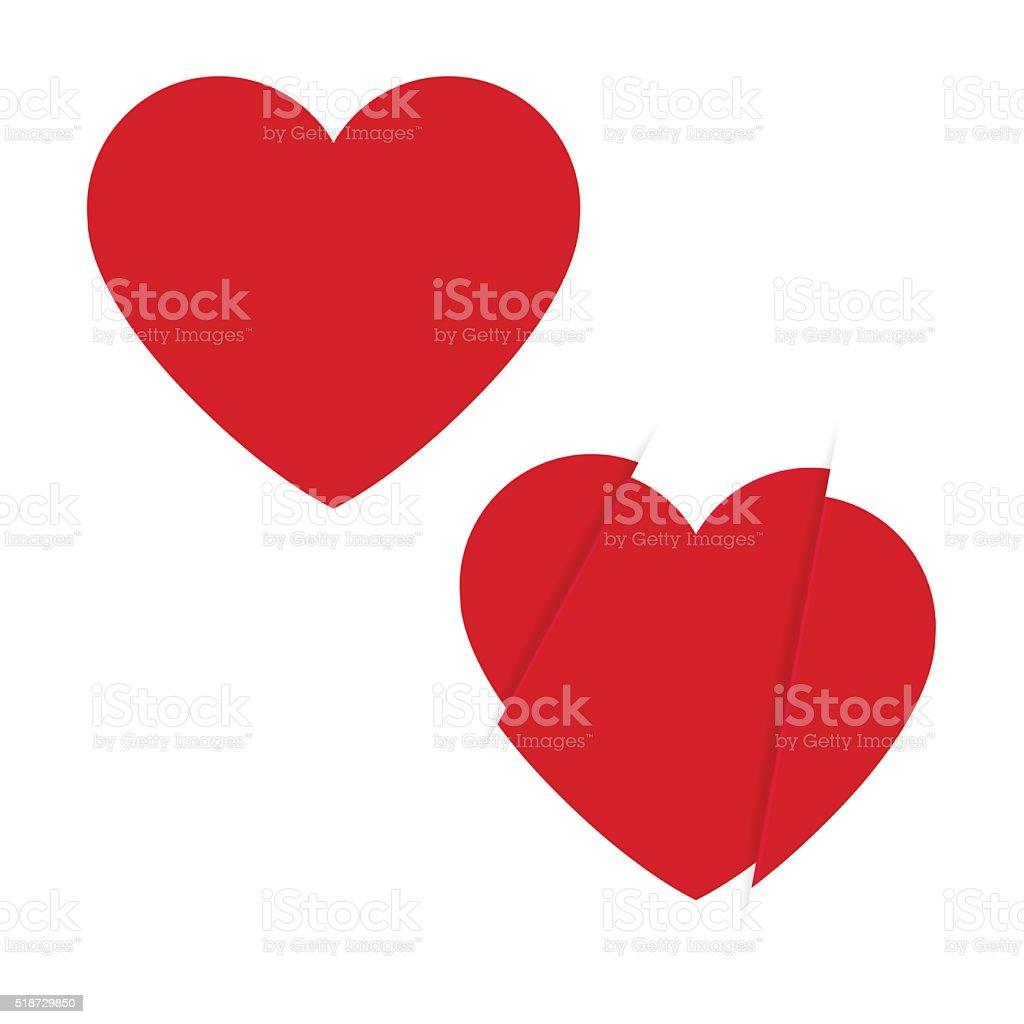 Heart icon vector art illustration